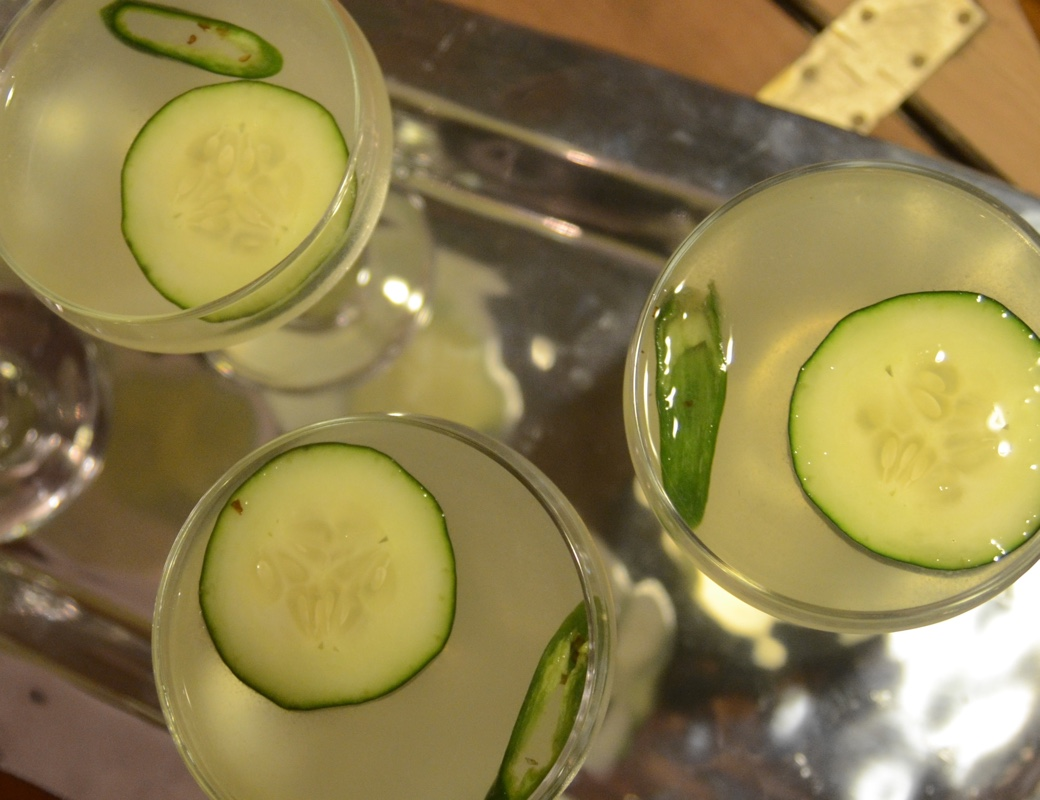 Spicy Cucumber Gimlet: Gin, Lime, Serrano Peppers | Garden ...