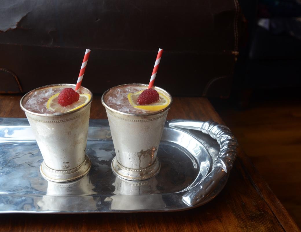 The Bramble: gin, lemon juice, creme de muir