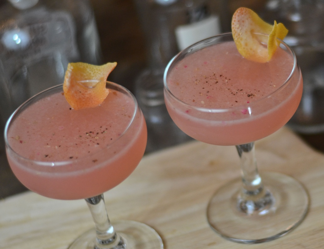 cardamom rose grapefruit cocktail
