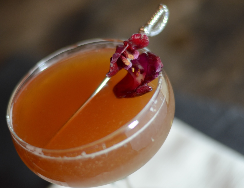 mata hari cocktail with chai tea