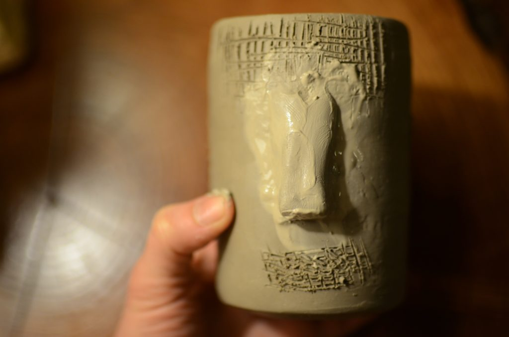 how to hand build tiki mugs