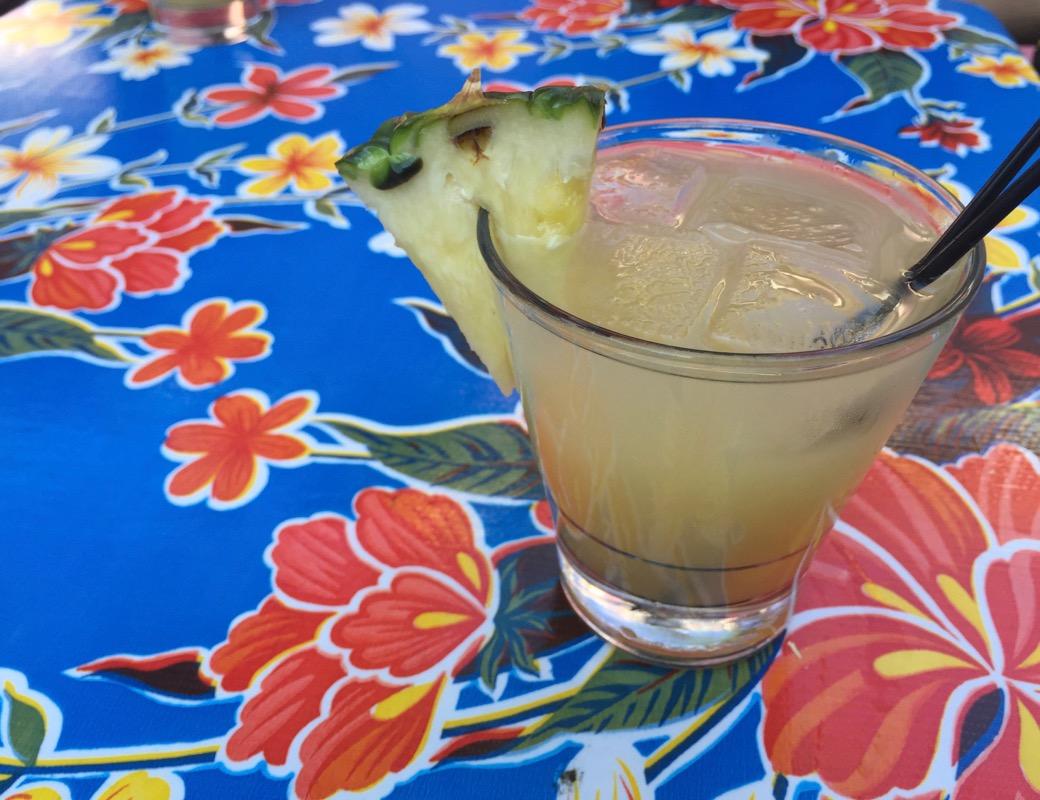 pineapple rhubarb cocktail