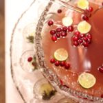 cranberry ginger punch in vintage bowl